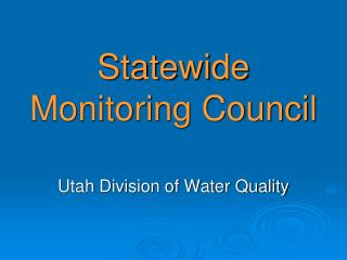 Statewide Monitoring Council