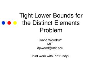 Tight Lower Bounds for the Distinct Elements Problem