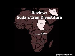 Review: Sudan/Iran Divestiture