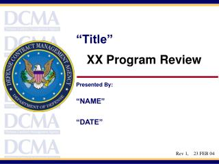 XX Program Review