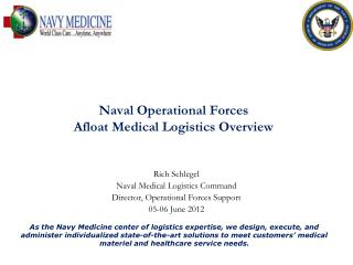 Naval Operational Forces  Afloat Medical Logistics Overview