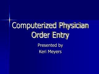Presented by Keri Meyers