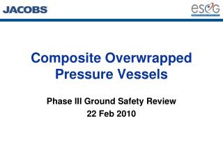 Composite Overwrapped Pressure Vessels