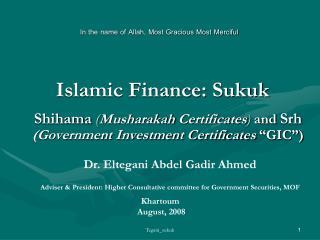 Islamic Finance: Sukuk