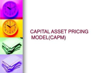 CAPITAL ASSET PRICING            MODEL(CAPM)