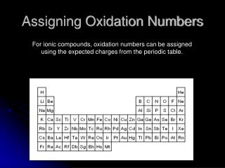 Assigning Oxidation Numbers