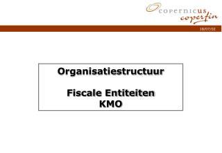 Organisatiestructuur Fiscale Entiteiten KMO