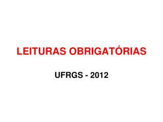 LEITURAS OBRIGAT RIAS