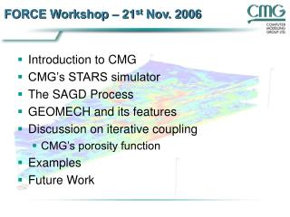 FORCE Workshop – 21 st  Nov. 2006