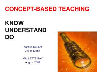 CONCEPT-BASED TEACHING  KNOW UNDERSTAND  DO