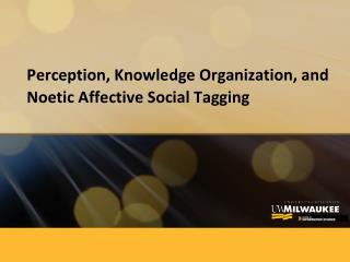 Perception, Knowledge Organization, and  Noetic  Affective Social Tagging