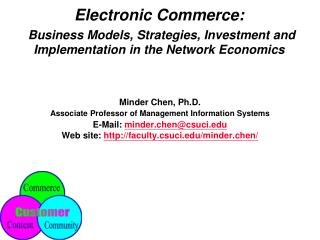 Electronic Commerce:   Business Models, Strategies, Investment and Implementation in the Network Economics