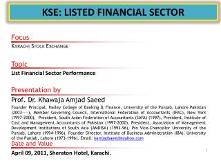KSE: LISTED FINANCIAL SECTOR
