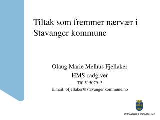 Tiltak som fremmer n�rv�r i Stavanger kommune