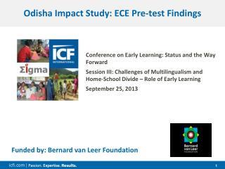 Odisha Impact Study: ECE Pre-test Findings