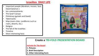 Israelites  DAILY LIFE