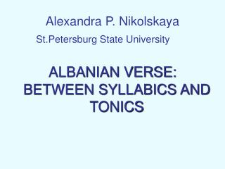 Alexandra P. Nikolskaya