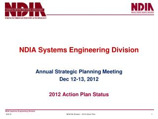 NDIA Systems Engineering Division
