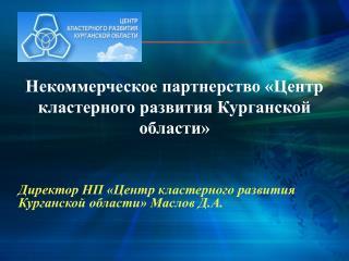 Некоммерческое партнерство «Центр кластерного развития Курганской области»