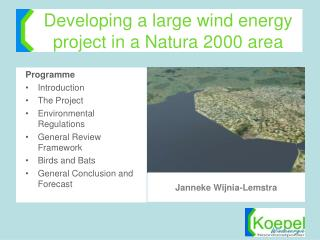Developing a large wind energy project in a Natura 2000 area
