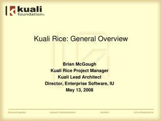 Kuali Rice: General Overview