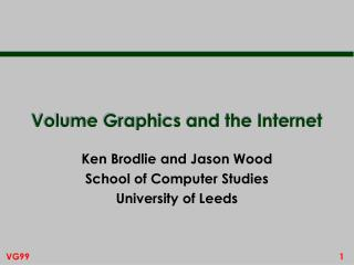 Volume Graphics and the Internet