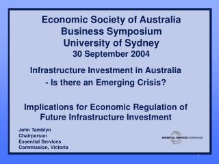 Economic Society of Australia Business Symposium