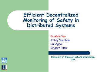 Efficient Decentralized Monitoring of Safety in Distributed Systems