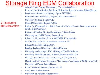 Storage Ring EDM Collaboration