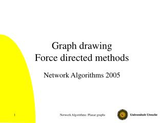 Graph drawing Force directed methods