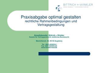 Praxisabgabe optimal gestalten rechtliche Rahmenbedingungen und Vertragsgestaltung
