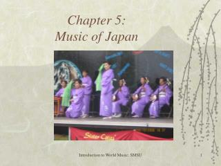 Chapter 5: Music of Japan