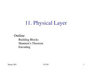 Outline Building Blocks Shannon's Theorem Encoding