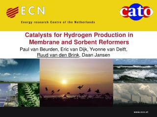 Catalysts for Hydrogen Production in Membrane and Sorbent Reformers