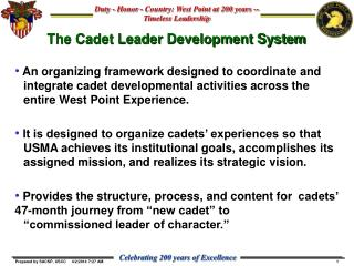 The Cadet Leader Development System