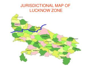 JURISDICTIONAL MAP OF  LUCKNOW ZONE