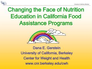 Changing the Face of Nutrition Education in California Food Assistance Programs