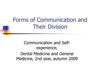 Psychologie komunikace