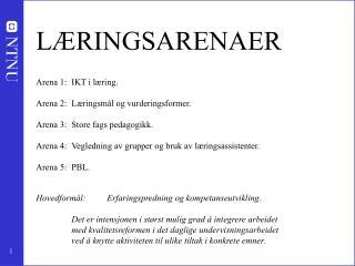 LÆRINGSARENAER