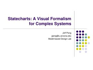 Statecharts: A Visual Formalism for Complex Systems