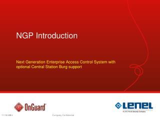NGP Introduction