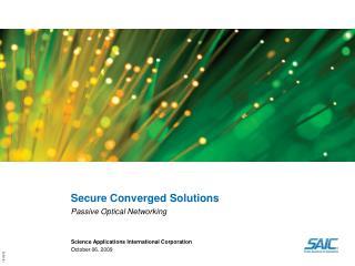 Secure Converged Solutions