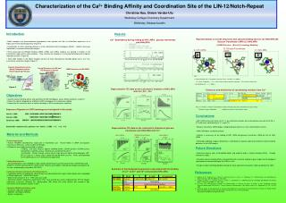 Characterization of the Ca 2+  Binding Affinity and Coordination Site of the LIN-12/Notch-Repeat