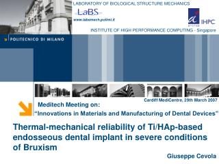 Meditech Meeting on:  Innovations in Materials and Manufacturing of Dental Devices