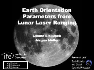 Earth Orientation Parameters from Lunar Laser Ranging