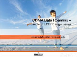 CDMA Data Roaming –  Simple IP L2TP Design Issues