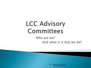 LCC Advisory Committees
