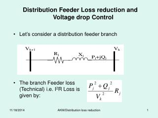 Distribution Feeder Loss reduction and Voltage drop Control