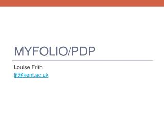 MyFolio/PDP
