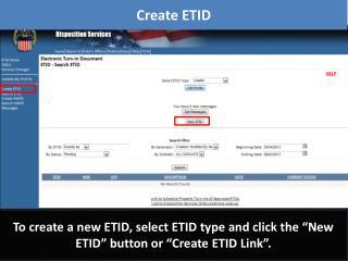 Create ETID